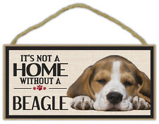 Wood Sign: It's Not A Home Without A Beagle | Dogs, Gifts, Decorations