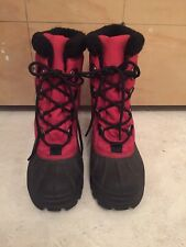 SOREL Cumberland Women's Red Waterproof Duck Snow Winter Boots Size 5.5