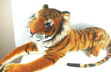 "African Bengal Tiger Melissa and Doug Jumbo Giant 52"" plush stuffed Life Like"