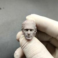 """Hot 1//12 Scale The Expendables 2 Lundgren Head Sculpt Unpainted Fit 6/"""" ML Figure"""