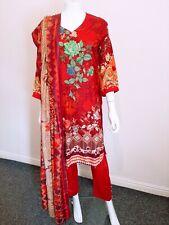 Pakistani shalwar kameez High Quality Linen 3 Piece Suit Ladies Designer Replica