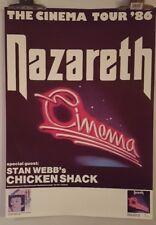 Nazareth Cinema tour 1986 chicken shack   Original Concert  poster