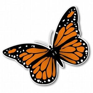 Monarch Butterfly Car Vinyl Sticker - SELECT SIZE
