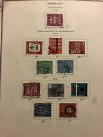 Early Germany Stamps on 12 album pages 1962-1969 Collection