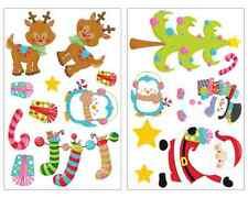 17-teiliges Süße Weihnachten Wandtattoo Set Kinderzimmer Aufkleber Sticker Ren