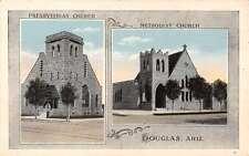 Douglas Arizona Church Multiview Exterior Antique Postcard K11179