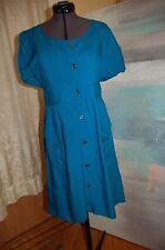 Maeve Anthropologie Blue Rayon Shirt Dress Size 6
