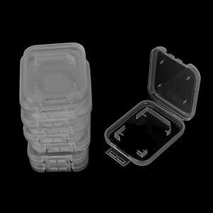 10X transparente Standards S-D SDHC Speicherkartenhüllen Halter Box Storage*YRD