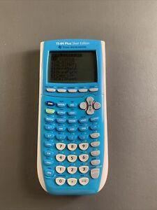 Texas Instruments TI-84 Plus Silver Edition Graphing Calculator Blue (Read Desc)