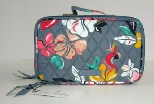 NWT Vera Bradley Blush and Brush Makeup Case COASTAL PARADISE Travel Cosmetic