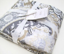 Pottery Barn Celeste Damask Linen Cotton Full Queen Duvet Cover New