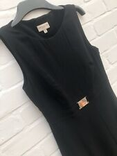 Karen Millen Black Dress UK Size 10 Midi Formal Fit Flare