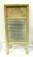 """Antique Columbus Washboard Primitive Silks Lingerie DUBL HANDI 18""""x8"""""""