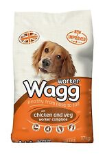 Wagg Worker Complete Mix Dry Dog Food Chicken and Vegetables 17 kg