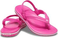 Crocs 205777 CROCBAND STRAP FLIP Kids Girls Flip Flops Sandals Electric Pink