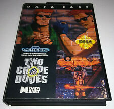 Two Crude Dudes - Sega Genesis, 1991 - Complete - Uncommon