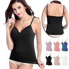 Womens New No Rims Bra Ladies Stretch Camisole Crop Strappy Bra Vest Plain Top