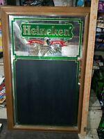 Vintage Heineken Beer Mirrored Chalkboard  RARE