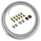 3/16 OD 25 ft Steel Brake Line Tubing Coil and Fitting Kit - 16 Fittings - SAE
