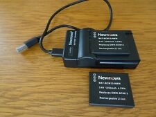 Newmowa Battery Charger & 2 Camera Batteries