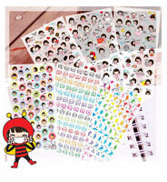 6 sheet sport girl diary notebook calendar photo album PVC transparent stickers
