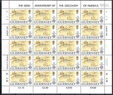 Guernsey vellen 549-552  Europa CEPT 1992 Ontdekking Amerika  Cat waarde € 80