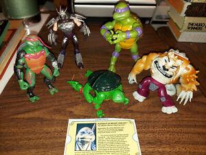 Mixed Lot Of 5 Vintage & Modern TMNT Action Figures Raphael Donatello Shredder