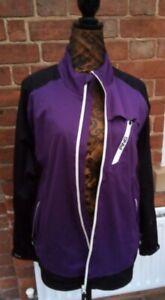 Ladies Black purple Ping golf windbreaker jacket.size large VGC