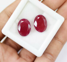 20 Ct Natural Oval Shape  African Red Ruby Matching Pair Gemstone~DD3708