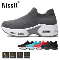Wisstt Women's Air Cushion Sneakers Mesh Walking Slip-On Running Gym Sport Shoes