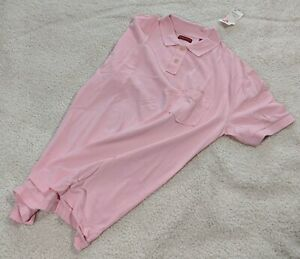 Pure Stuff Nordstrom men's polo shirt, pink, size: XL NWT