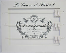 Le Bistro Timber Peg Memo or Photo Board Rustic French Provincial Country Style