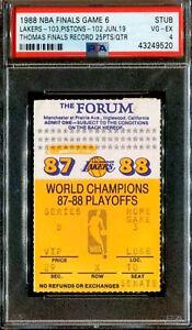 Lakers vs Pistons 1988 NBA Finals Isiah Thomas 25PTS Qtr (PSA)