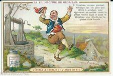 Chromo Liebig La philosophie de Grosjean puis cuisine recette asperges au gras