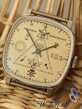 "Mens  Wrist Watch  ""Maconic-World collection "" Soviet ZIM  Vintage Beige Dial nж"