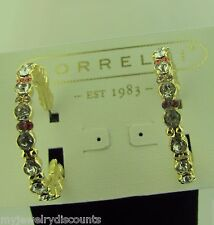 Sorrelli Coral Reef Hoop Earrings NWT 10k bright gold tone ECR107BGCOR
