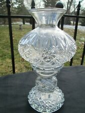 Vintage Clear 1980's Pressed Glass Oil Lamp Candle Holder Pedestal Fairy Light