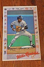 Vintage 1980's Willie Randolph Cartoon Poster New York Daily News N.Y. Yankees