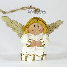 "Midwest of Cannon Falls Eddie Walker Angel 2.75"" Ornament Blonde Hair Gold White"