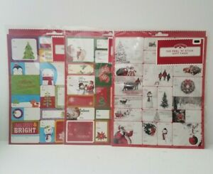 Holiday Time 3 Pack Peel & Stick Gift Tags. Assorted Christmas Designs.