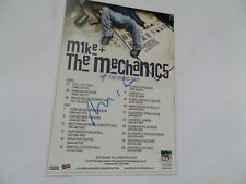 More details for mike rutherford autographed tour flyer.