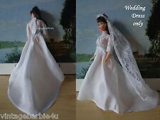 Vintage Dress White Wedding Gown Dress Only / Barbie Doll Babs Bild Lilli Stacey