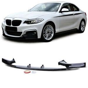 BMW 2 series F22 F23 M sport performance GLOSS black front splitter spoiler lip.