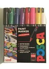 Uni POSCA Pc-1mr Paint Marker Pen Starter Set of 8 Assorted Colours Ultra Fine