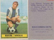 JUAN MANUEL DELGADO RIVERA # ESPANA HERCULES.CF CARD TARJETA ESTE LIGA 1975