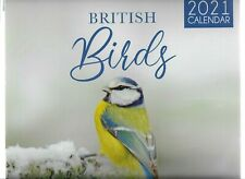 2021 BRITISH BIRDS CALENDER MONTH TO VIEW WITH ENVELOPE SPACE FOR WRITING