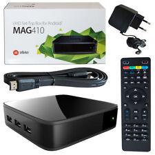 MAG 410 IPTV BOX Multimedia Player Internet TV Steaming UHD 4K Android HDTV IP