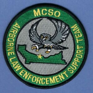 MULTNOMAH COUNTY SHERIFF OFFICE AIRBORNE LAW ENFORCEMENT SUPPORT TEAM PATCH