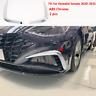 2020-2021 For Hyundai Sonata ABS Chrome Front Bumper Vent Frame Cover Trim 2pcs