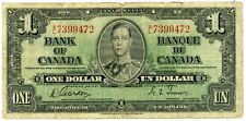 Genuine 1937 Bank of Canada $1 Note